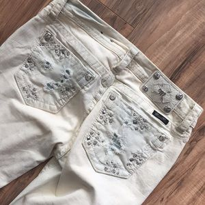 Miss me jeans off white straight leg
